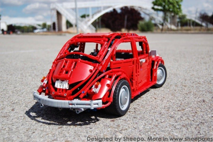 vw beetle in lego technic lego cars and trucks. Black Bedroom Furniture Sets. Home Design Ideas