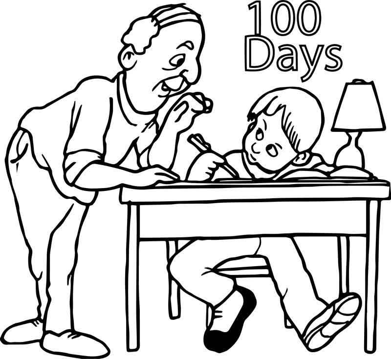 Homework 100 Days Coloring Page School Coloring Pages School Homework Coloring Pages For Boys