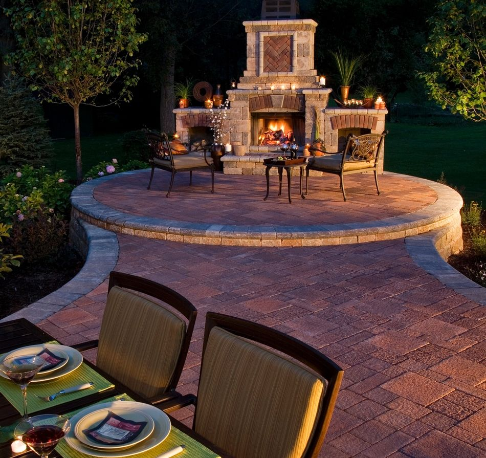 il campo patio with tuscany fireplace homeowner patios