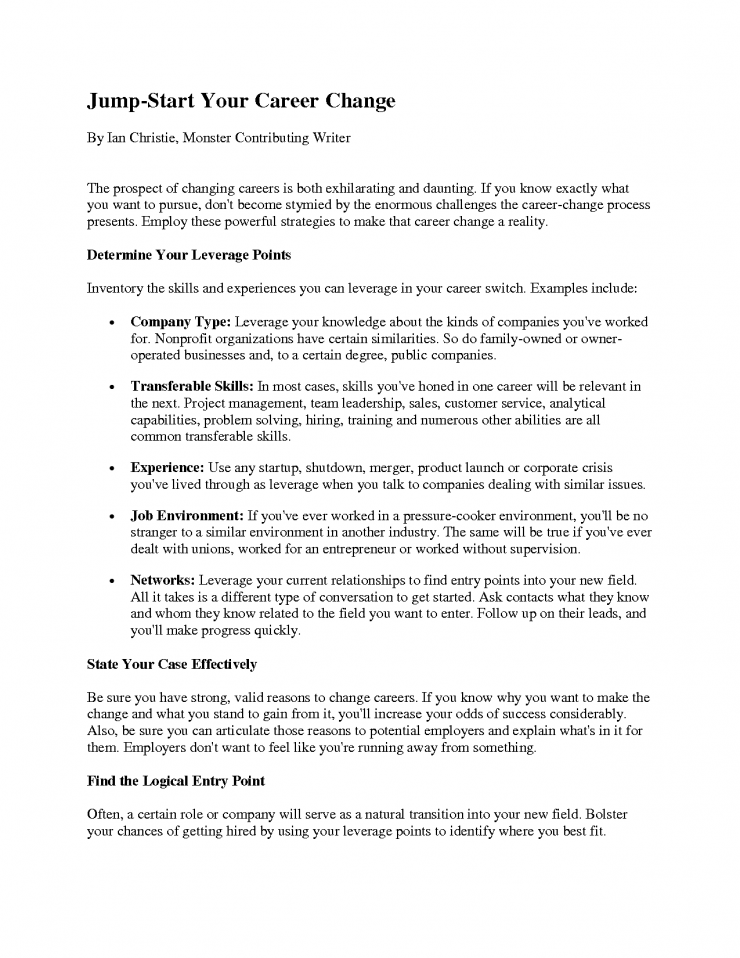 Monster Sample Resume Resume Sample Method 20 Cover Letter Template For Resume Sample For .