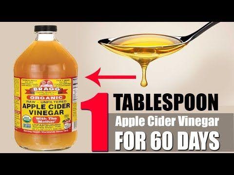 Apple Cider Vinegar Weight Loss Study : 1 Tbsp of Apple Cider Vinegar For  60 Days