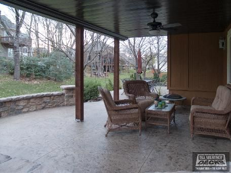 Azek Deck With Fortress Handrails With Cedar Posts And Moonlight