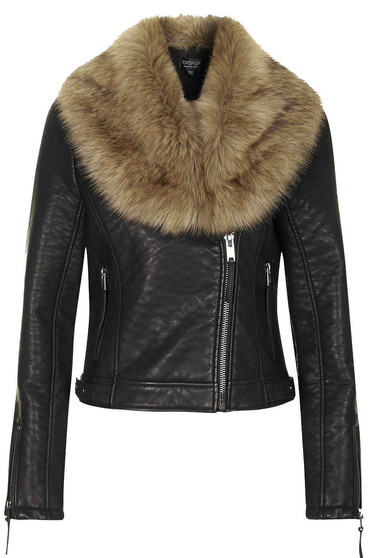 Faux Fur Shawl Biker Jacket (With images) Fur