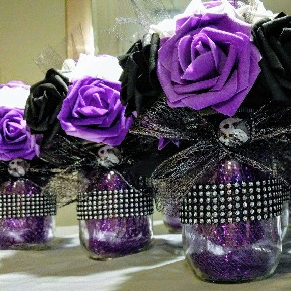tons of nightmare before christmas items including these centerpieces available in my shop nightmarebeforechristmas wedding halloween - Nightmare Before Christmas Wedding Decorations