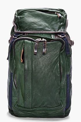 53fcea771e8 Marni Sea Green Leather Drawstring Backpack for Men   SSENSE ...