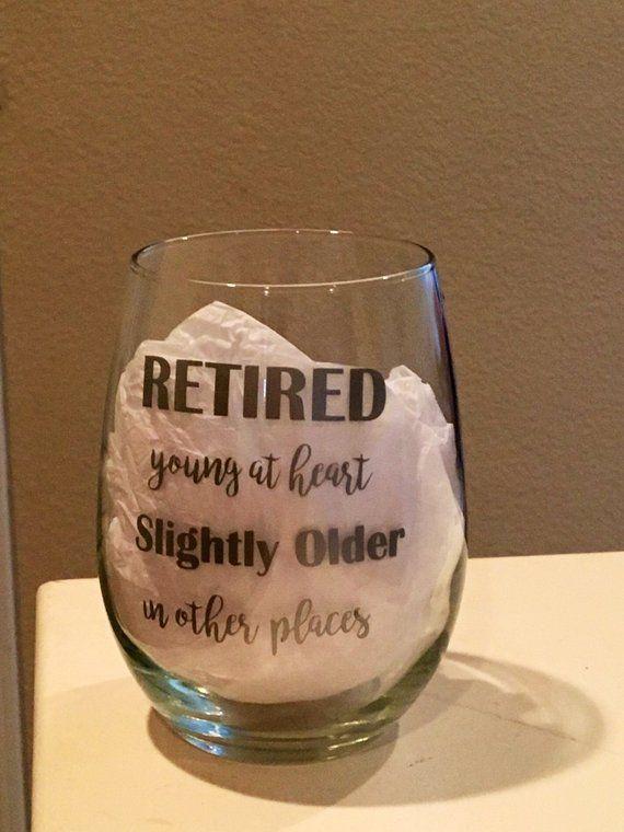 Funny Retirement Gift Wine Glass For Mom Retiring Teacher Boss