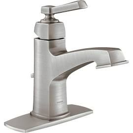 Moen 84805Srn Spot Resist Lavatory Faucet Brushed Nickel Gorgeous Brushed Nickel Bathroom Accessories Review