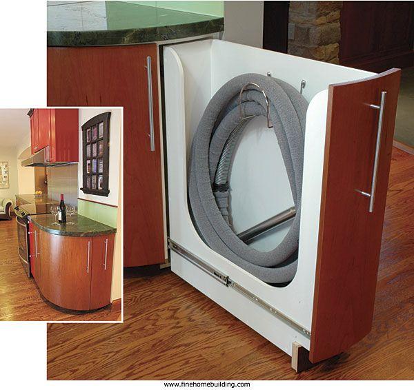 Vacuum Hose Cabinet Hose Storage Central Vacuum Vacuum Storage