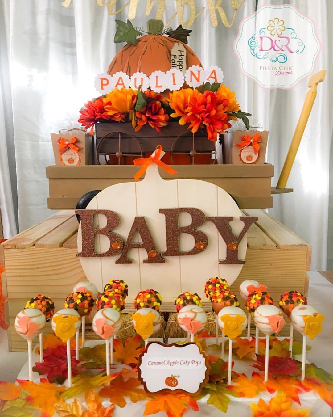 Fall Cake Pops Little Pumpkin Baby Shower Ideas Baby Shower Fall