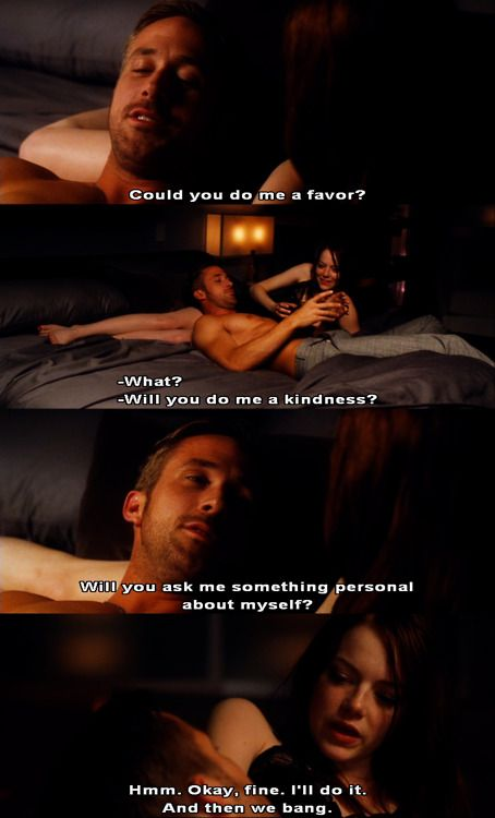 Crazy Stupid Love Quotes Inspiration Ryan Gosling And Emma Stone In Crazy Stupid Love  Oh He's A Kidder