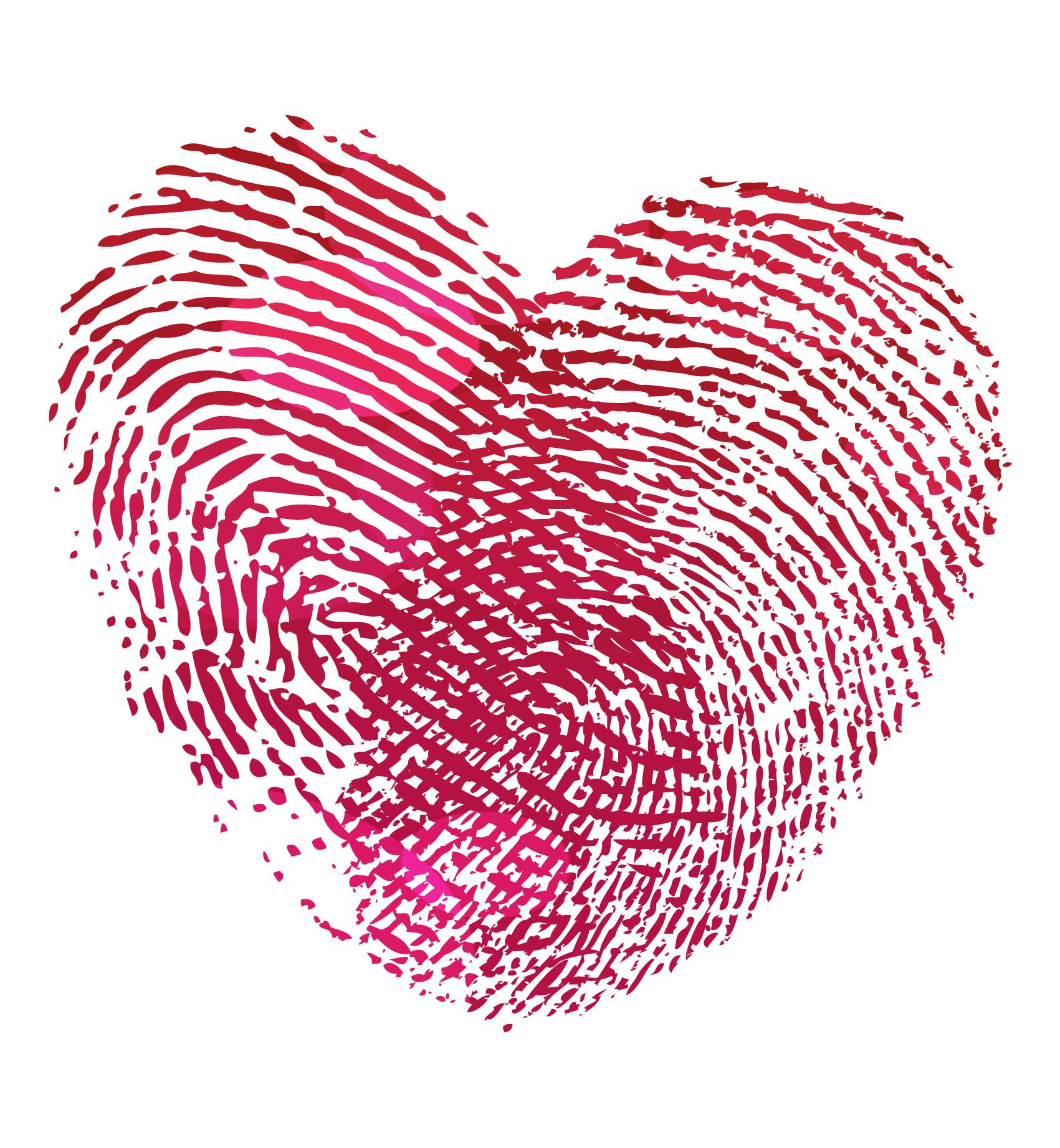 fingerprint rings | Fingerprint heart, Finger print and Finger