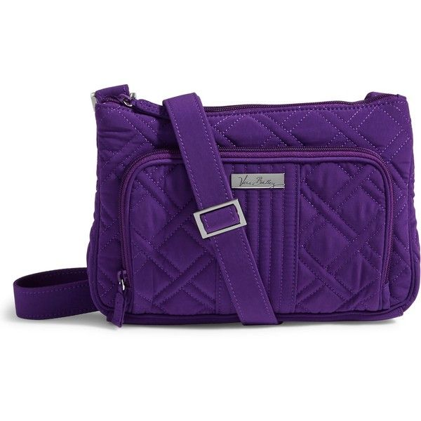 Vera Bradley Little Hipster Crossbody in Elderberry (565 NOK) ❤ liked on Polyvore featuring bags, handbags, shoulder bags, elderberry, mini crossbody handbags, mini crossbody, crossbody purse, purple handbags and evening handbags