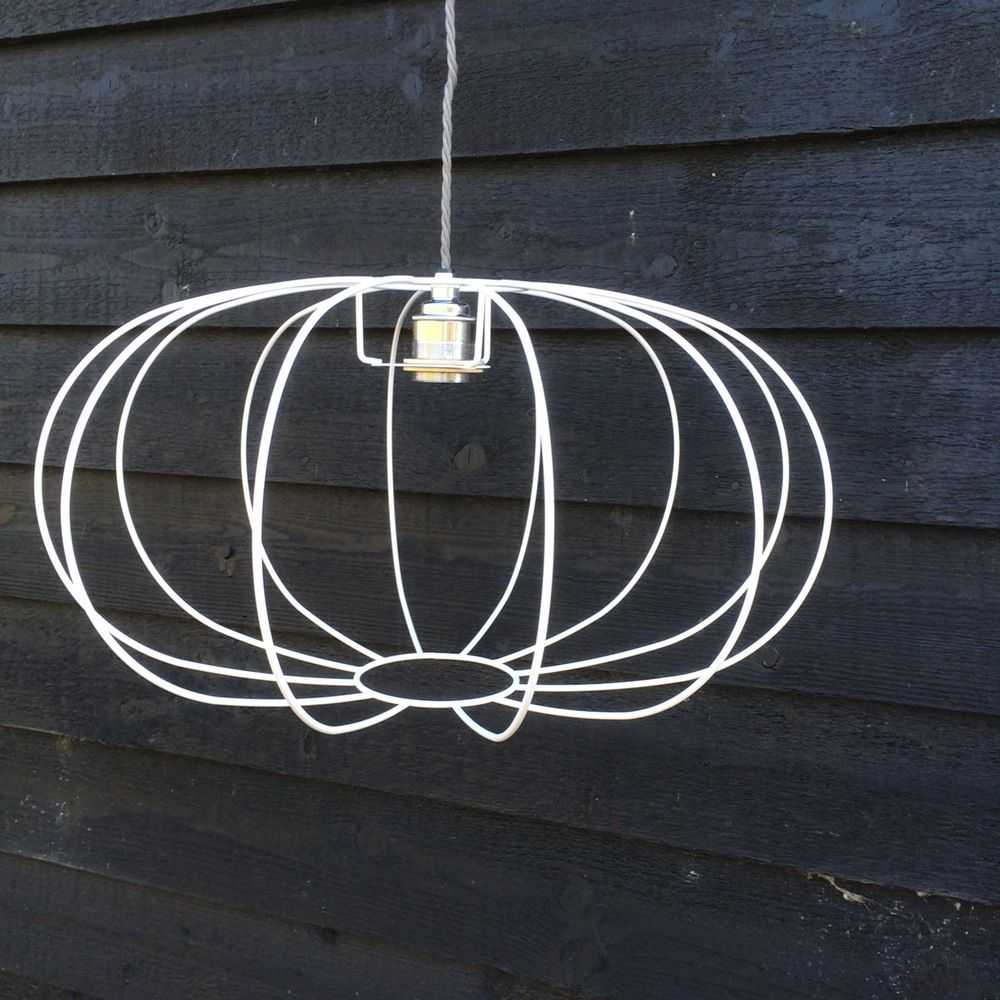 image of pumpkin lampshade frame - Wire Lampshade Frames