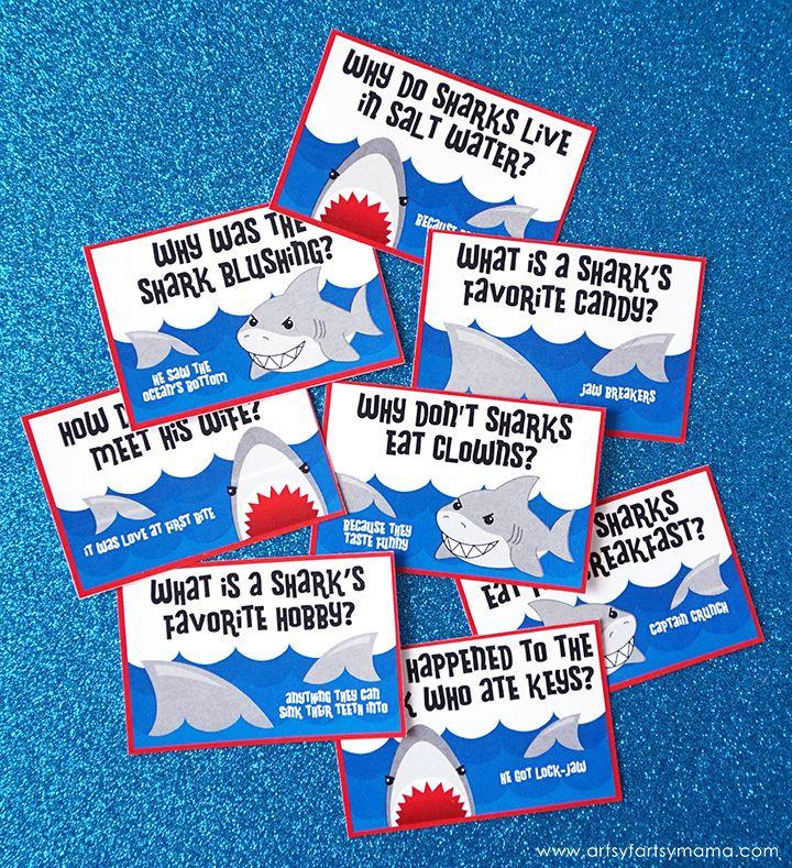 Free Printable Shark Jokes #sharkweekfood