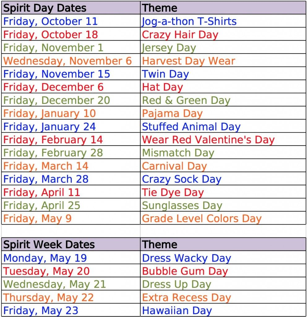Unique ideas for spirit week - Here Are Some Easy Dress Up Day Ideas For Spirit Weeks