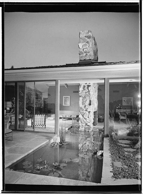 Becket residence los angeles ca 1952 mid century - Modern interior doors los angeles ...