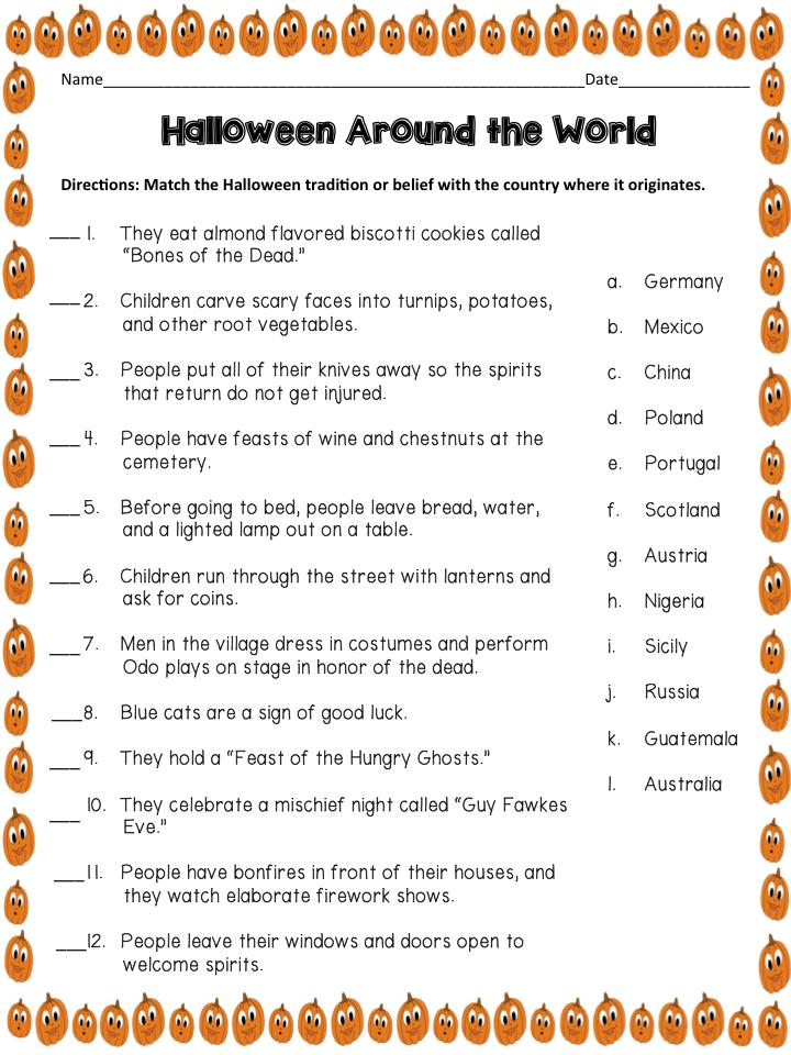 Halloween Around the World | Trivia games, Trivia and Halloween parties