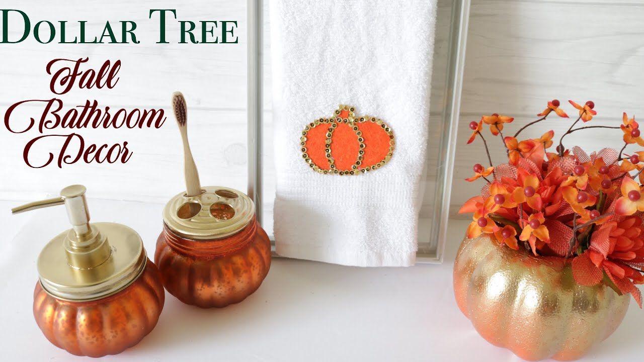 Dollar Tree DIY Fall Bathroom Decor YouTube Like the