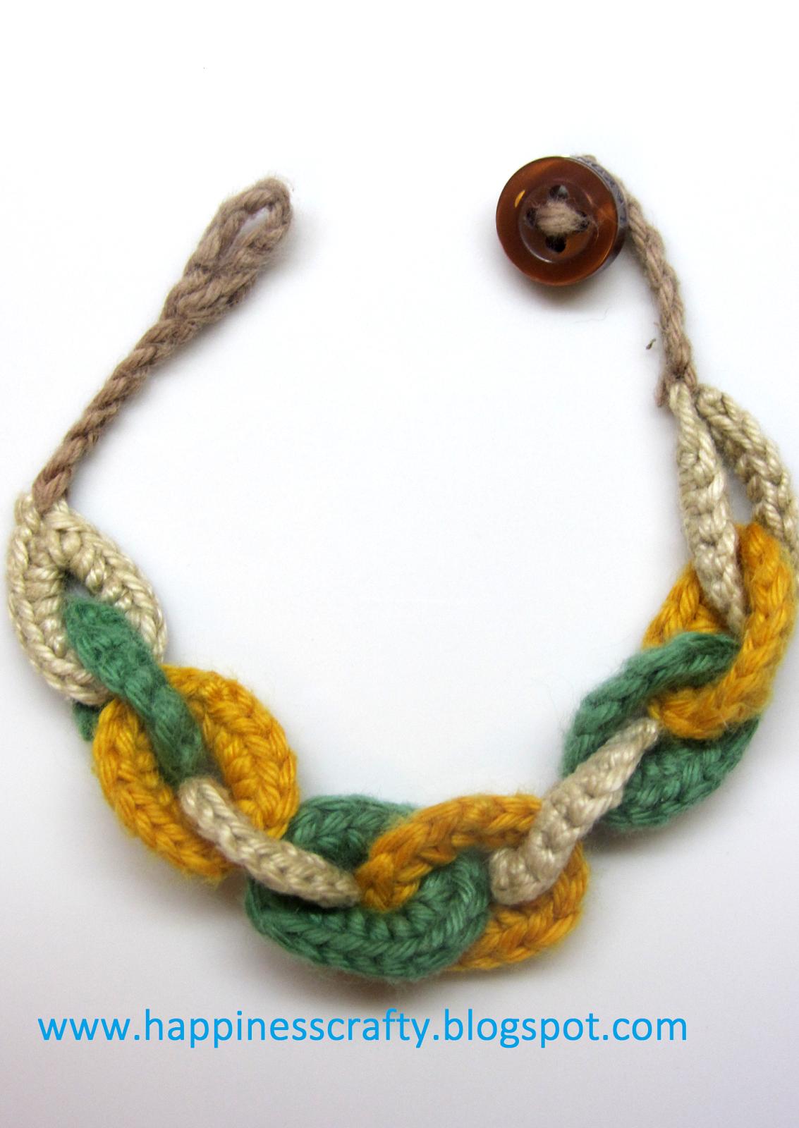 Círculos Pulsera ~ Free Crochet Pattern | Collares y pulseras a ...