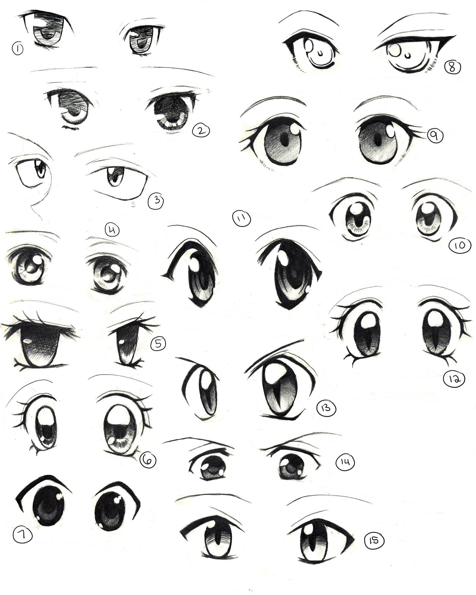 Anime Eyes Practice by on