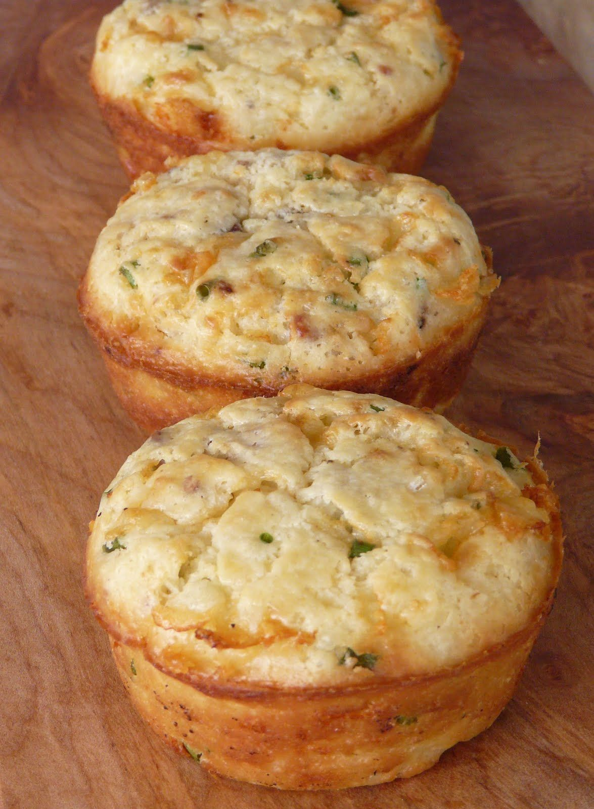Bacon, Cheddar and Chive Muffins - Click for Recipe