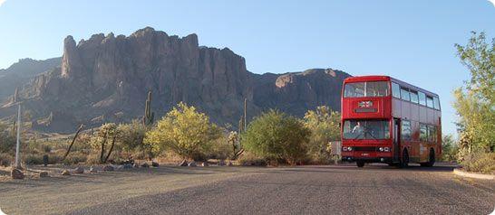 Arizona has a double decker London bus roaming around