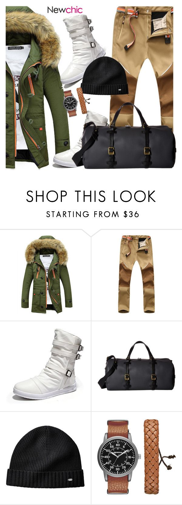 """NewChic 25: This Winter"" by bugatti-veyron ❤ liked on Polyvore featuring MIANSAI, Arizona, men's fashion and menswear"