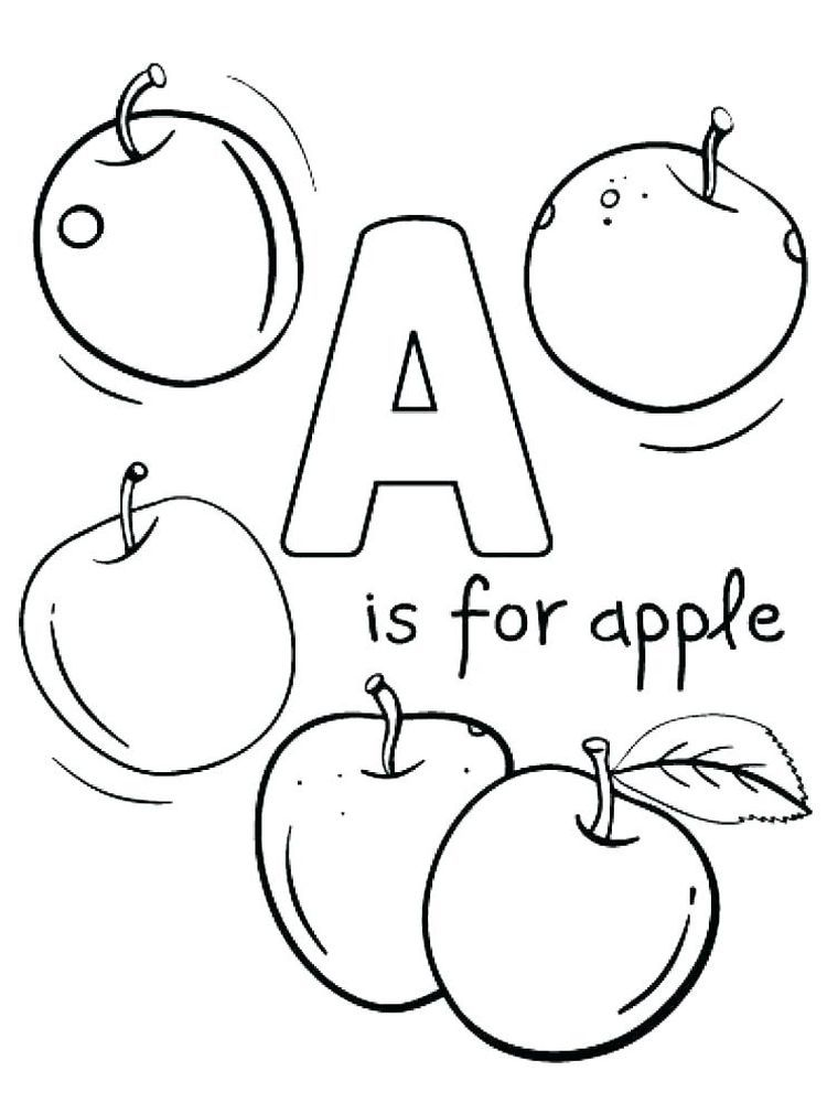 A For Apple Coloring Page Free Printable Apples Are One Of The Fruits That Many People Like Apart Apple Coloring Pages Abc Coloring Pages Flag Coloring Pages