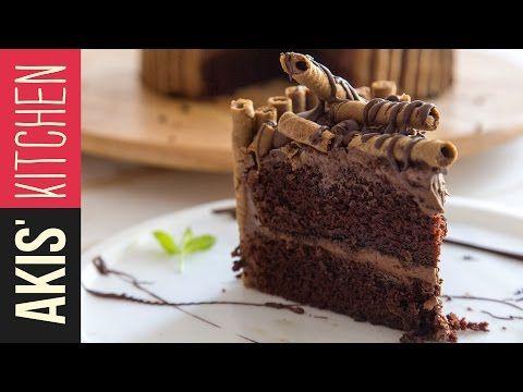 Chocolate Birthday Cake   Akis Kitchen - YouTube