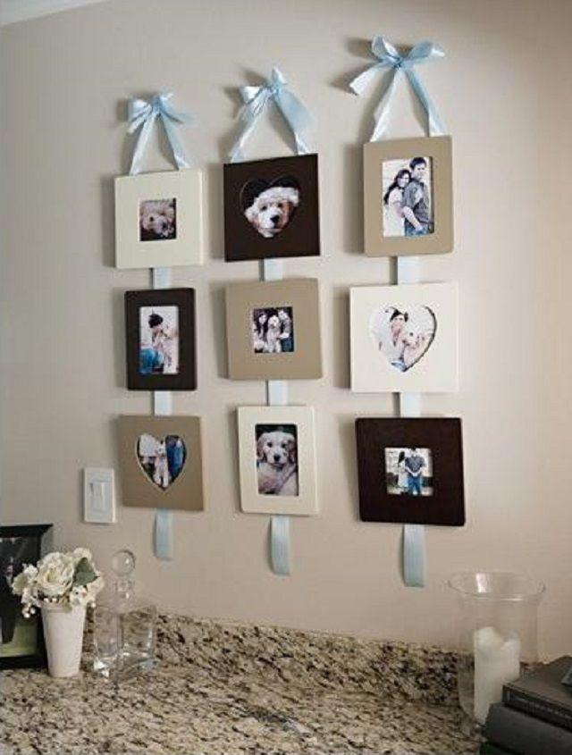 Más ideas para exponer nuestras fotos en casa. Ideal para el cuarto ...