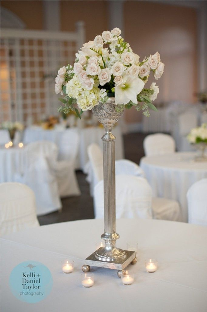 New Orleans Florist Meade Wenzel Designed Beautiful Southern Centerpieces With Multiple Silver Pieces