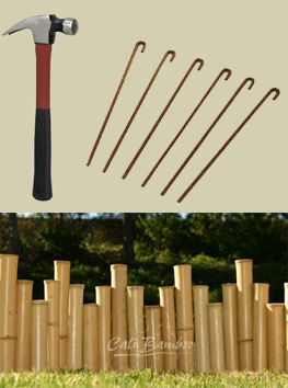 Landscape Edging  Use Bamboo Around Gardens and Flower Beds is part of Bamboo garden Edging - Bamboo landscape edging is a natural, easy to install border for gardens, flower beds, lawns and landscaping