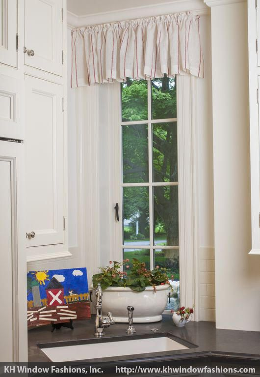 A Simple Valance For A Tall And Thin Casement Window In A Convenient Corner Let The Light And Bre Custom Window Treatments Casement Windows Window Treatments