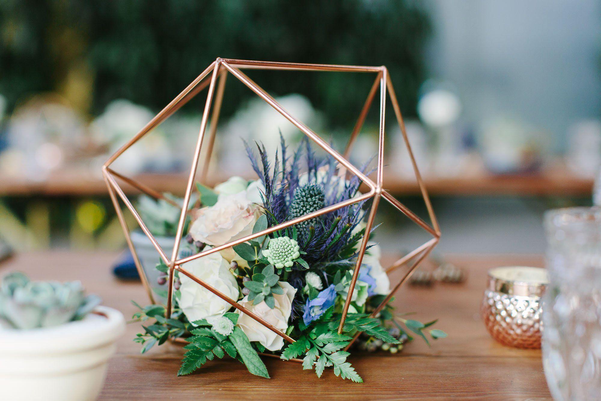 Gouden Geometrische Middelpunt Terrarium Geen Glas Roze Goud Beautiful Wedding Centerpiece Geometric Centerpiece Wedding Floral Centerpieces