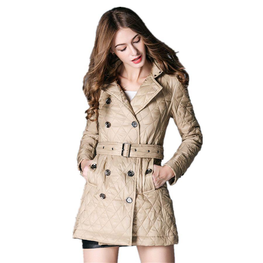 Top Fashion Women Coat 2016 New Style Luxury Brand Ladies Parkas ...