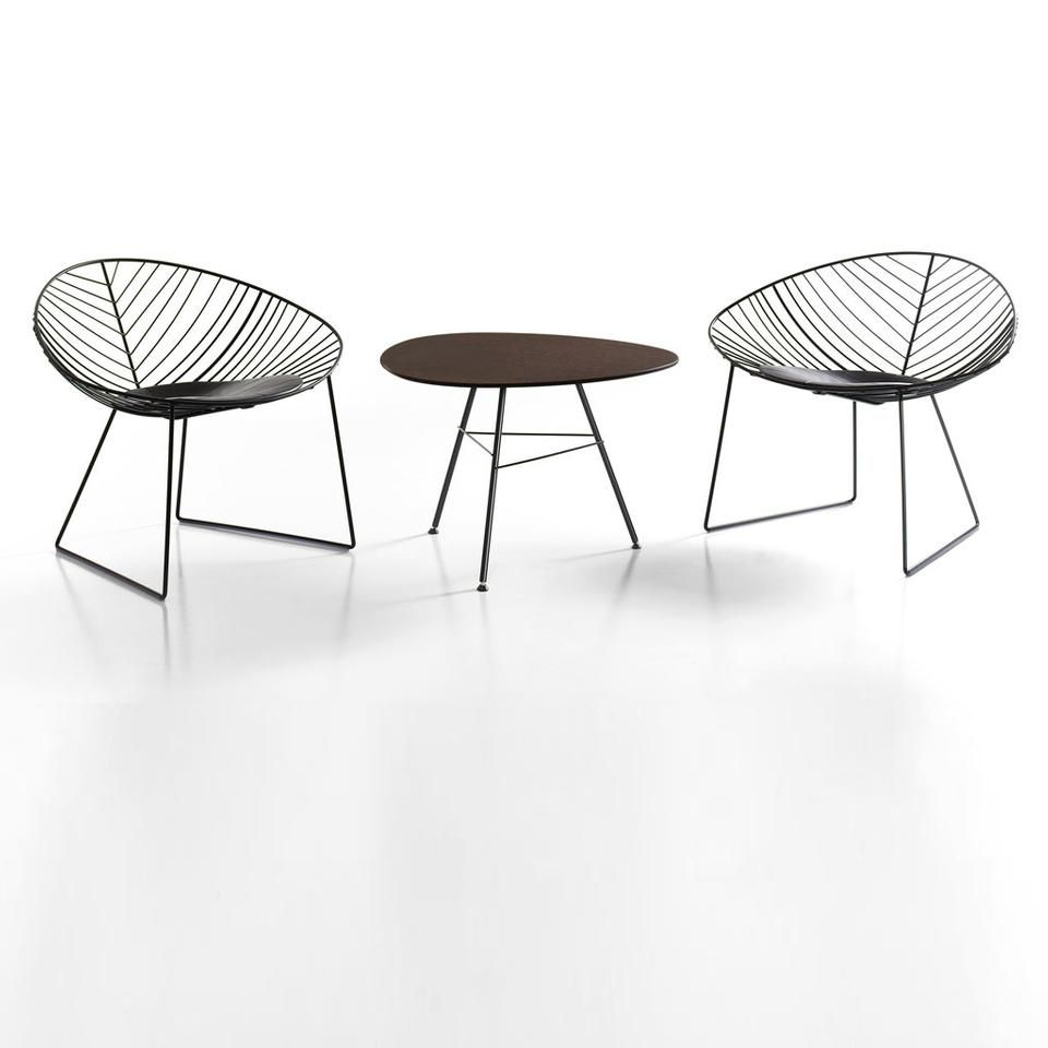 Leaf lounge sessel - Leaf Lounge Chair With Leaf Table By Lievore Altherr Molina For Arper 2005