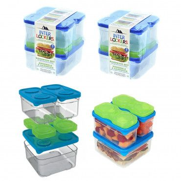 2pk Arctic Zone Food Container Sets Stacking Freezer Bricks Food Container Set Food Containers Food