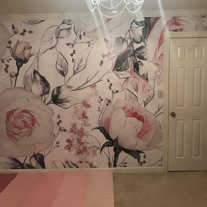 Removable Wallpaper Mural Peel & Stick Watercolor Vintage