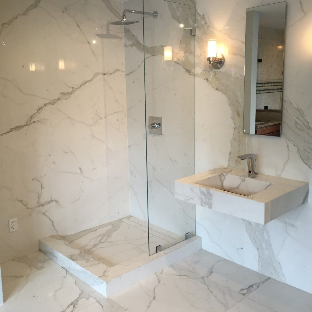 Slim Slab Porcelian Shower Walls Verona Showers Dc Metro