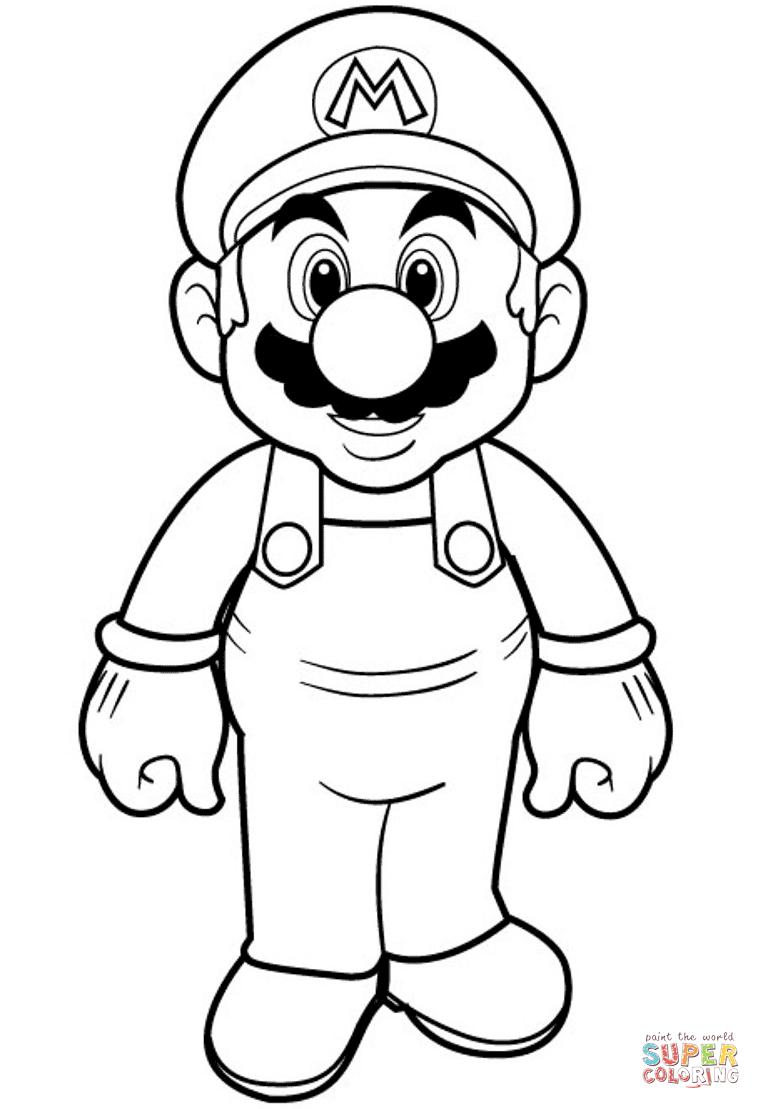 Super Mario Coloring Page Free Printable Coloring Pages Mario Coloring Pages Super Mario Coloring Pages Cartoon Coloring Pages