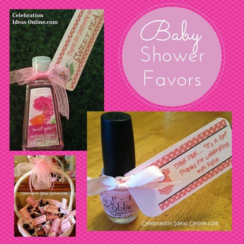 Easy Baby Shower Favors To Make In Under 30 Minutes! Guests Love These.  Nail Polish Or Hand Sanitizer With Adorable Gift Tags.