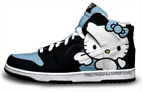 0543fe46bffe Hello Kitty Nikes Cartoon Nike Dunk Sneakers