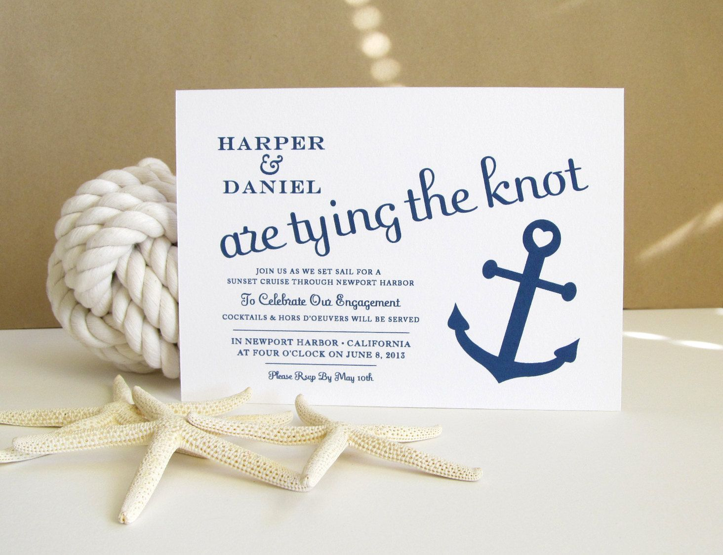 Wedding Invitations Nautical Theme: Nautical Save The Date Card