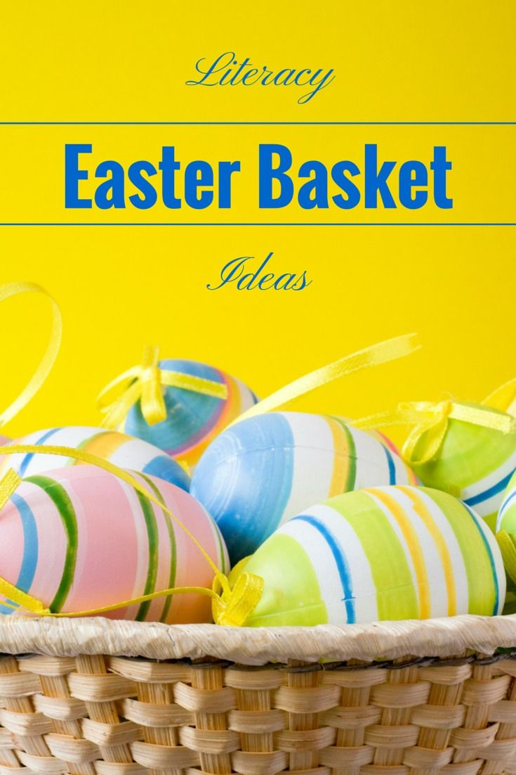 Literacy inspired easter basket ideas literacy skills basket easter basket ideas for babies toddlers preschoolers new and independent readers to help negle Image collections