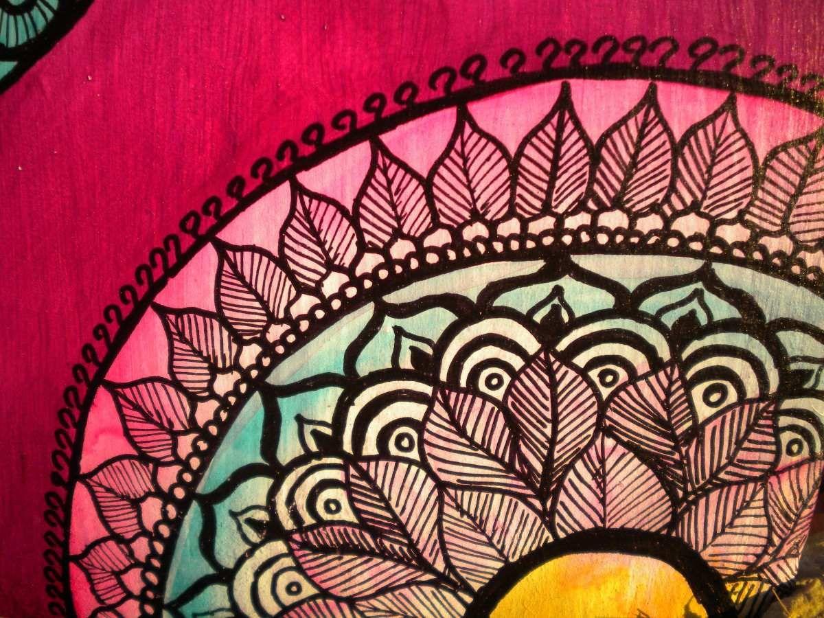 Cuadros mandalas pintado a mano mandalas y paisley - Cuadros mandalas ...