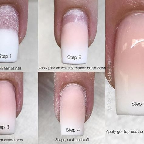 Baby Boom Nail Fedding Step By Step Diy Acrylic Nails Dipped Nails Arylic Nails