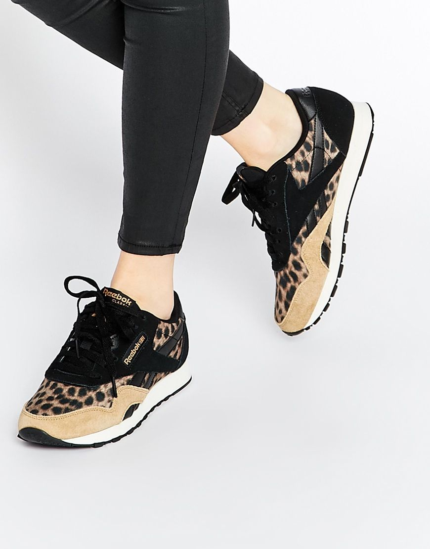 Reebok Wild Animal Print Sneakers  c9b811230