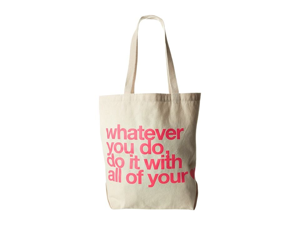 Dogeared Whatever You Do, Do It With All Your Heart Tote (Natural) Tote Handbags