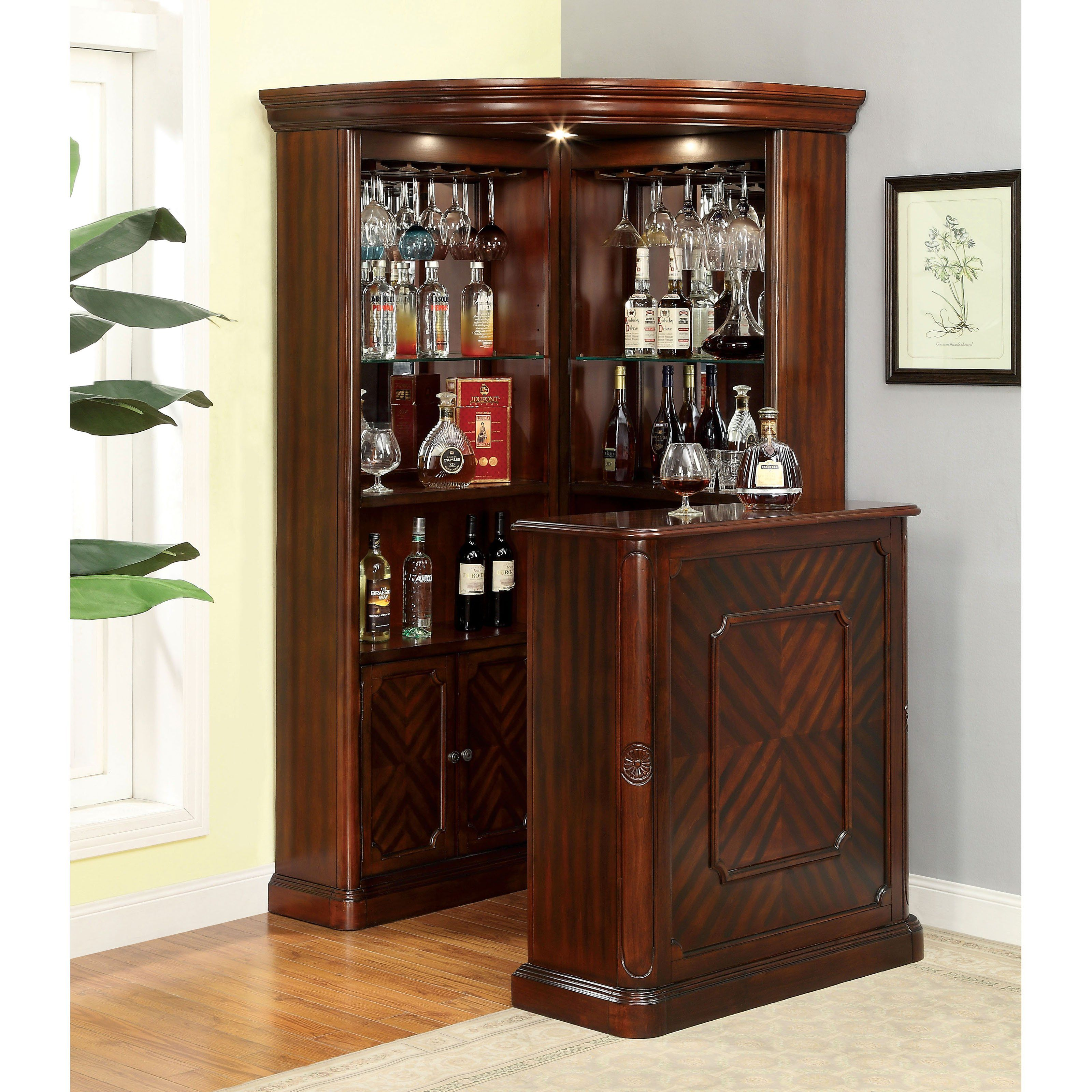 Furniture Of America Wolfgang Home Bar Cabinet