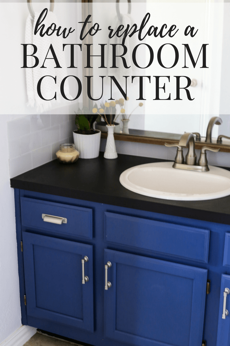 how to replace a bathroom counter on your own it 39 s an easy diy project that will totally. Black Bedroom Furniture Sets. Home Design Ideas